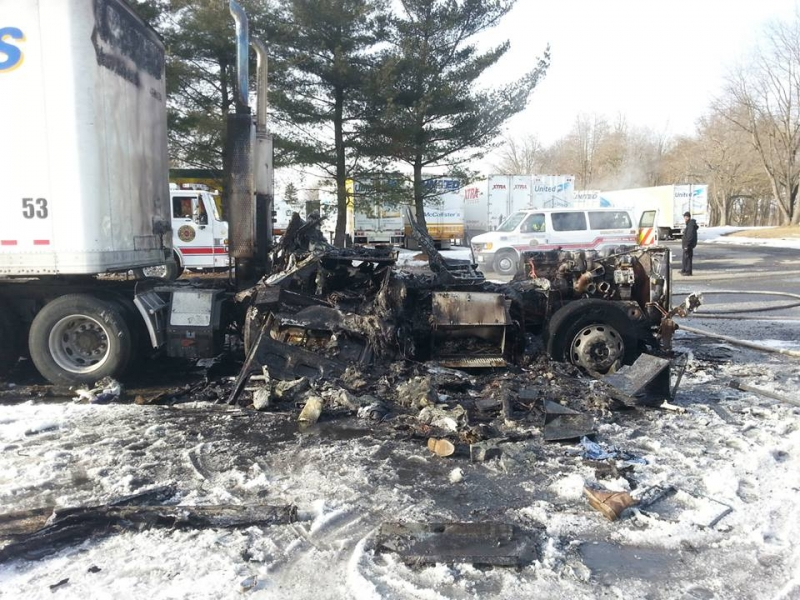 DISTRICT 30 TAKES IN A TRUCK FIRE